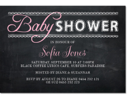 Blackboard Baby Shower Invitations