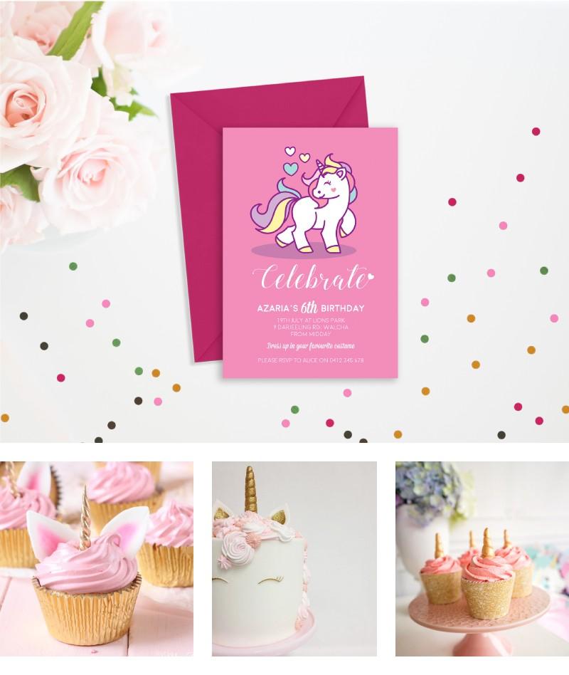 graphic regarding Fairy Birthday Invitations Free Printable named PaperDivas Web site - Unicorn Occasion- Free of charge Printable