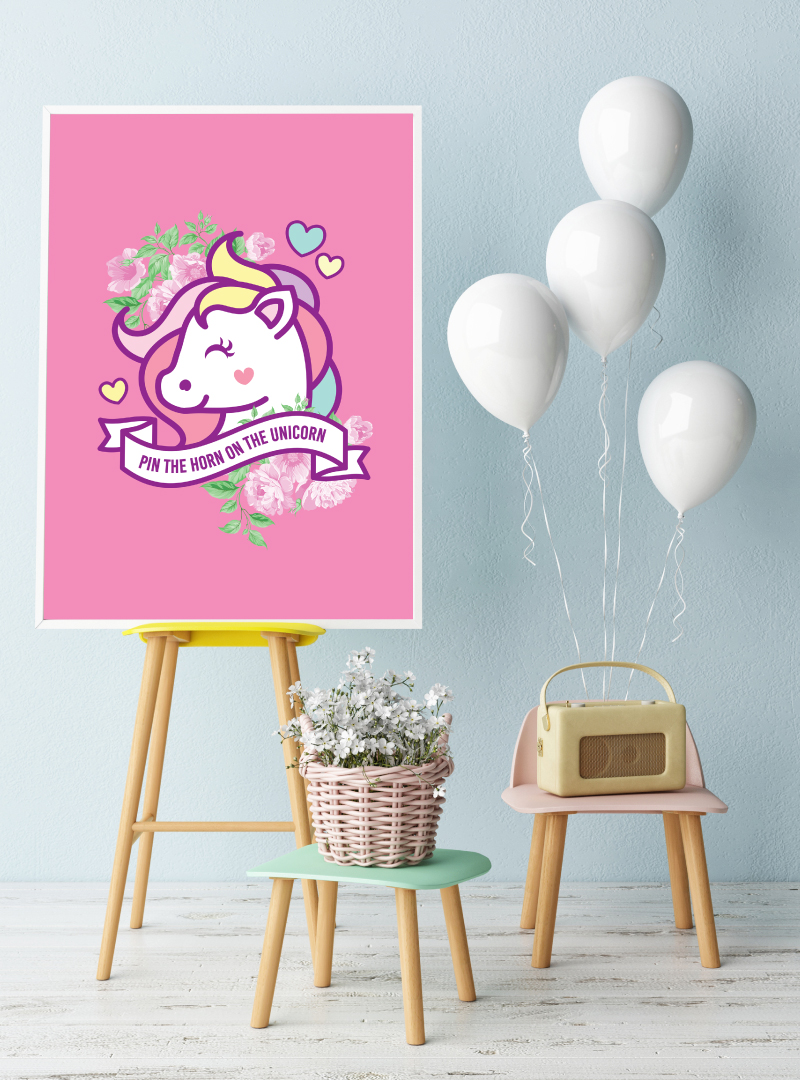 picture about Pin the Horn on the Unicorn Printable known as PaperDivas Weblog - Unicorn Occasion- Absolutely free Printable