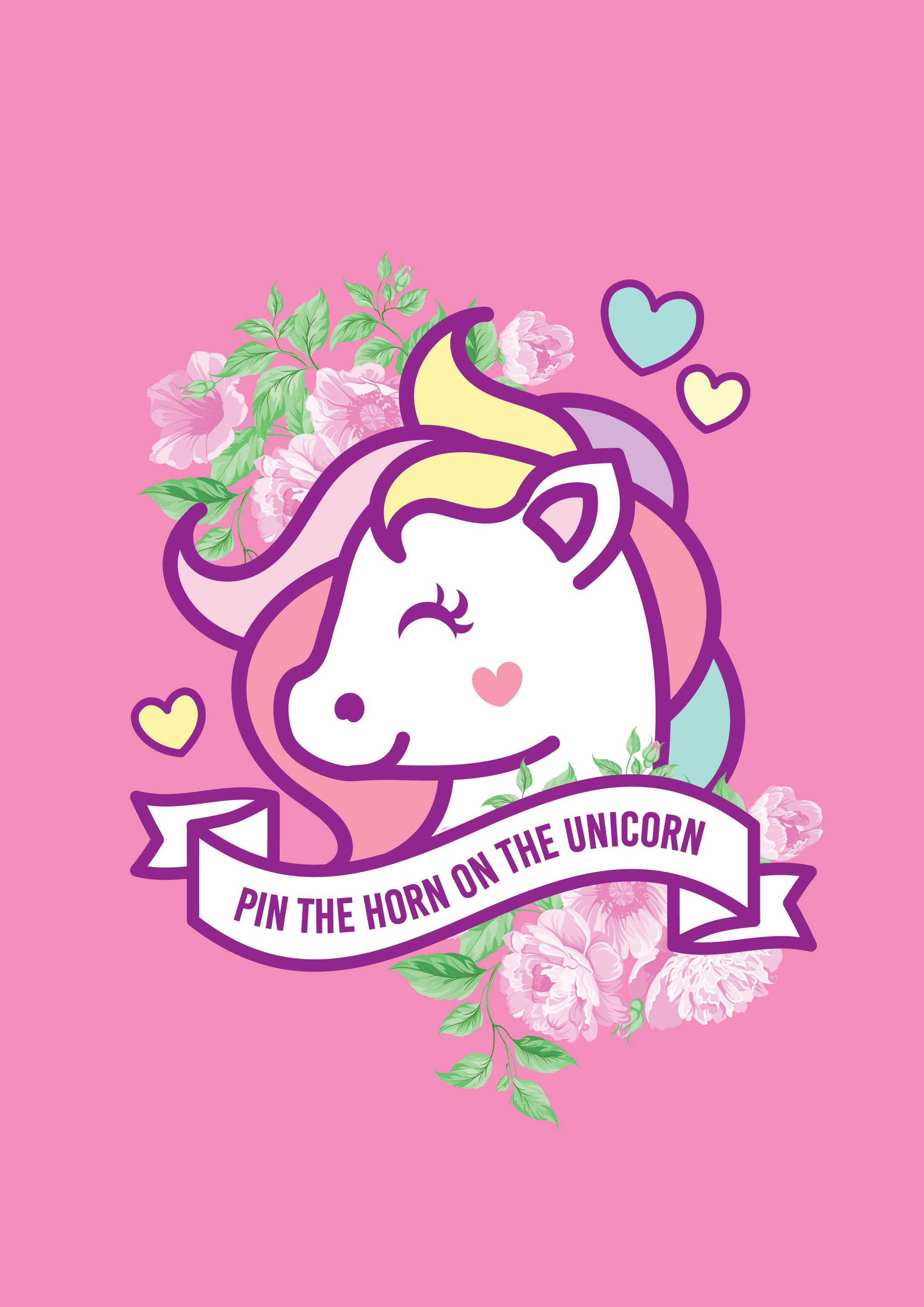 download your free printable and here to download your unicorn horns then head to your local printing shop to have it printed up for the special party