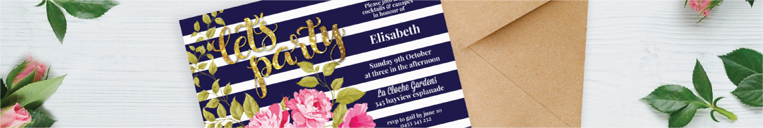 Sweet 16 Invitations Filter Card Style