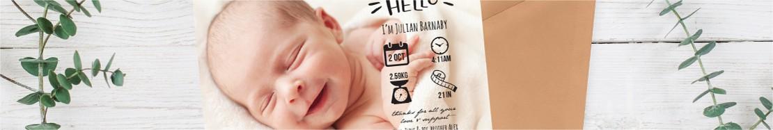 Boy Birth Announcement Cards