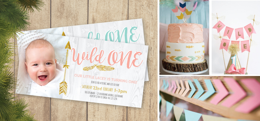 PaperDivas Blog Wild ONE St Birthday Invitations - Birthday invitation gold coast
