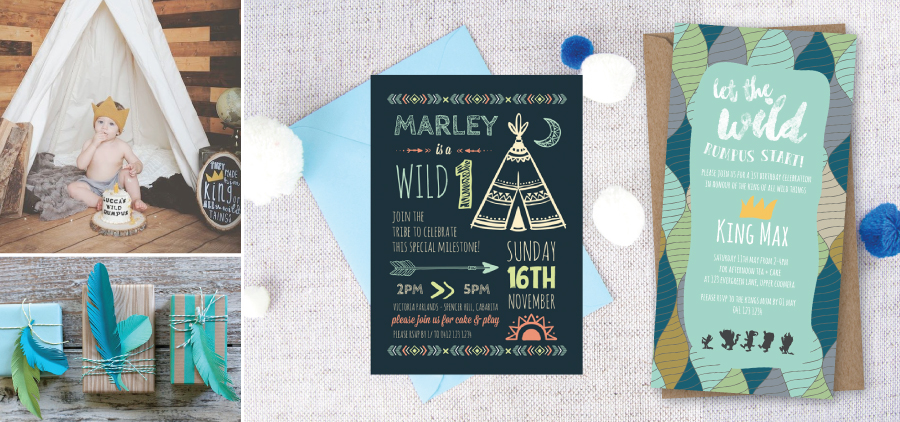 paperdivas blog wild one 1st birthday invitations