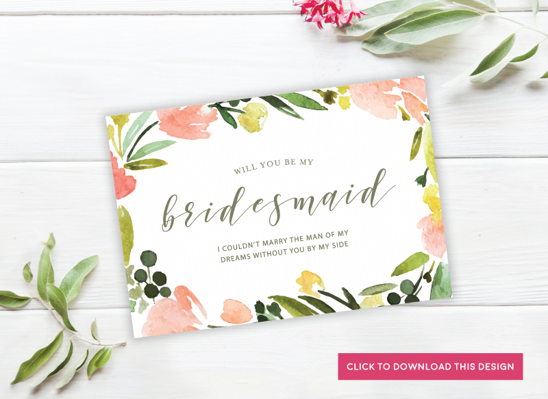 PaperDivas Blog Will You Be My Bridesmaid - Will you be my bridesmaid letter template